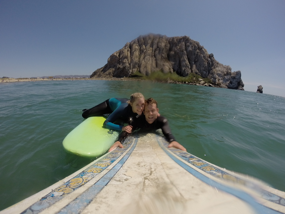 traveling fun and fancy free before children at morro bay in pismo beach.