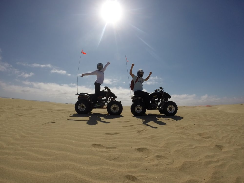 ATVS at Oceano Dunes. Life goals: go on trips, help others go on trips.