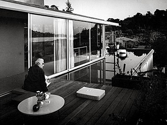 Famed architect Richard Neutra overlooks the reservoir
