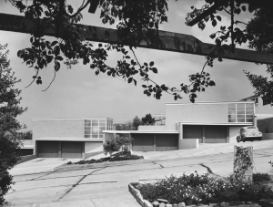 Original photo of Gregory Ain's Silver Lake development