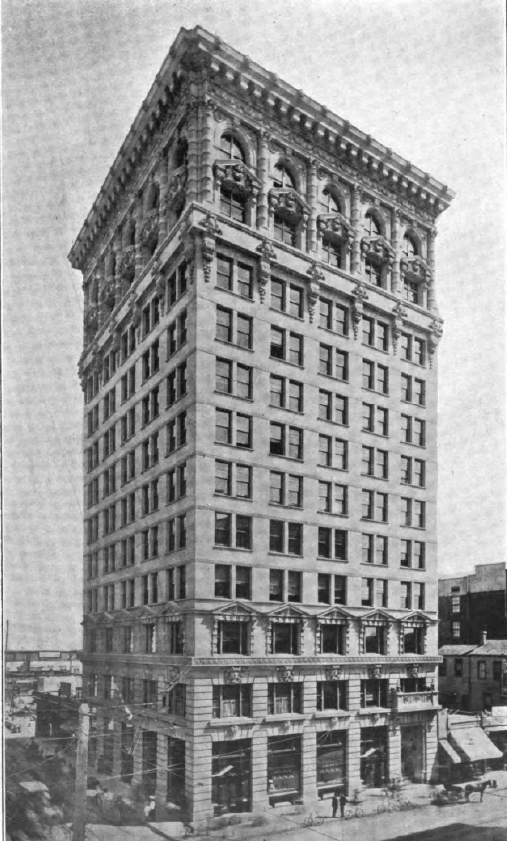 The Braly Building - Also known as the Continental Building was the first high-rise building in LA. Standing at 13-stories high, at 408 Spring St, in the Historic Core of Los Angeles, The Braley remained the tallest for three years. Shortly after the building was completed, The LA City Council enacted a 150 ft. height restriction on future buildings that remained until the 1950's.