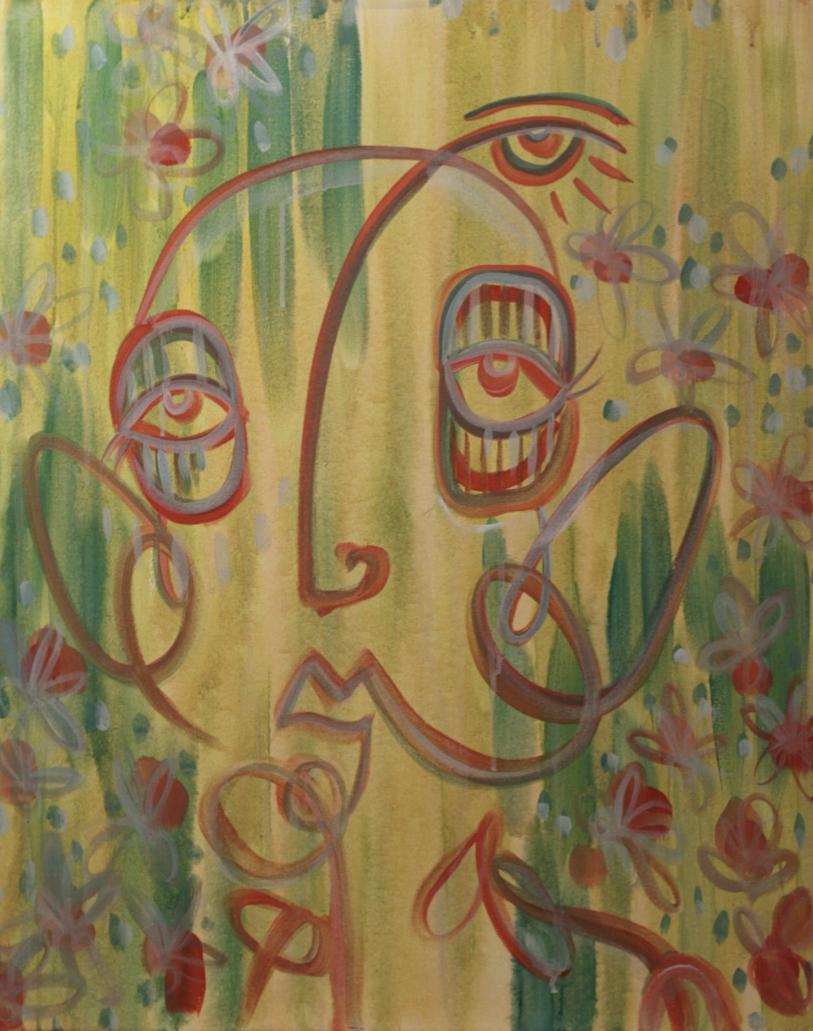 "Untitled 18x24"" Acrylic paint on canvas 2017"