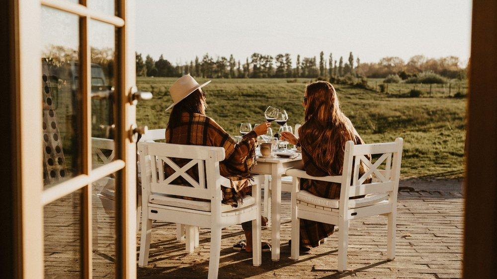Smuk udsigt fra Restaurant skipperly på Vejrø Resortjpg