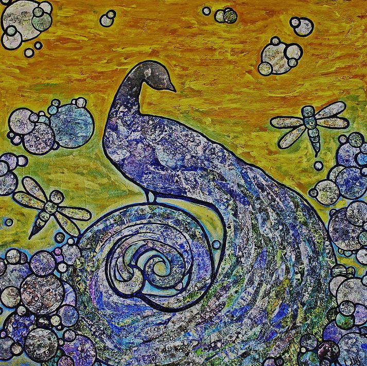 """Carolyn Colby - """"Peacock Garden"""""""