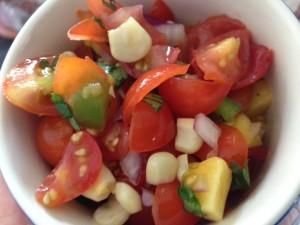 tomato mango salsa