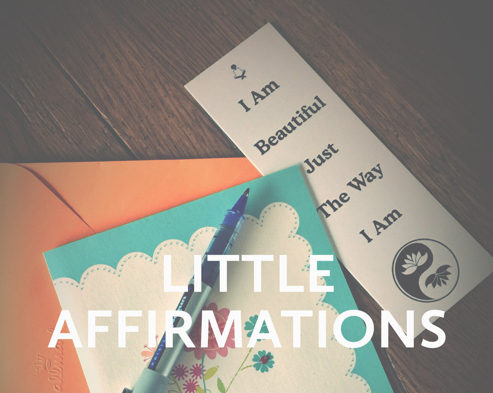 bookmark affirmations from health coach donna morin