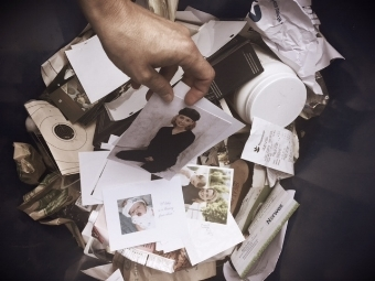 Hundreds of pictures being recycled.