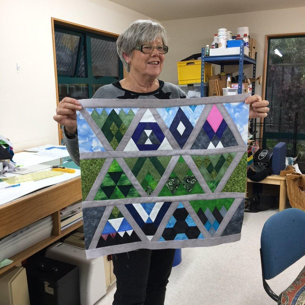 Triangle Block Party - Solstice Stitchery 2018