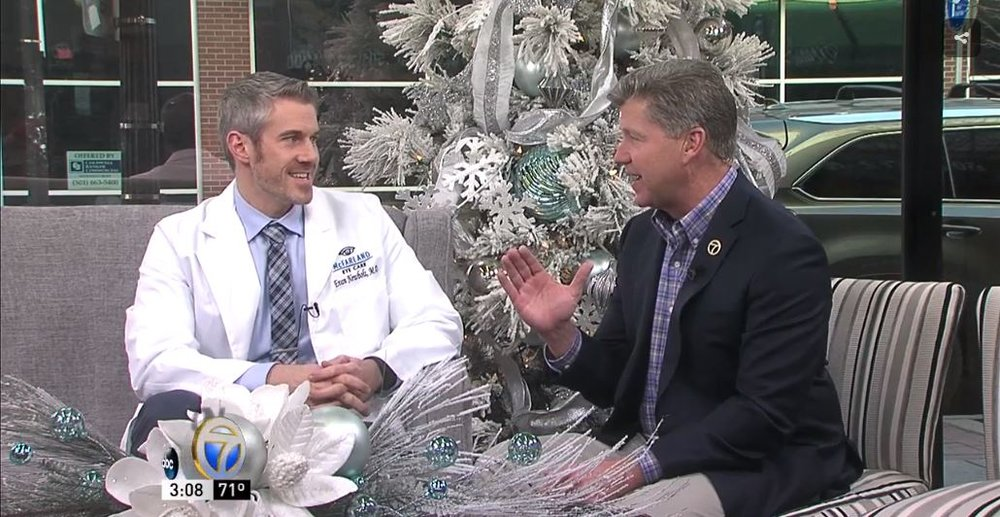 Dr. Evan Newbolt of McFarland Eye Care on KATV GAA 12.11.17.JPG