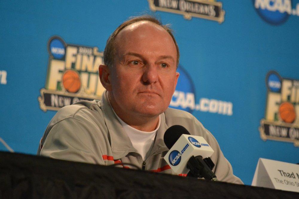 Ohio State coach Thad Matta in a press conference