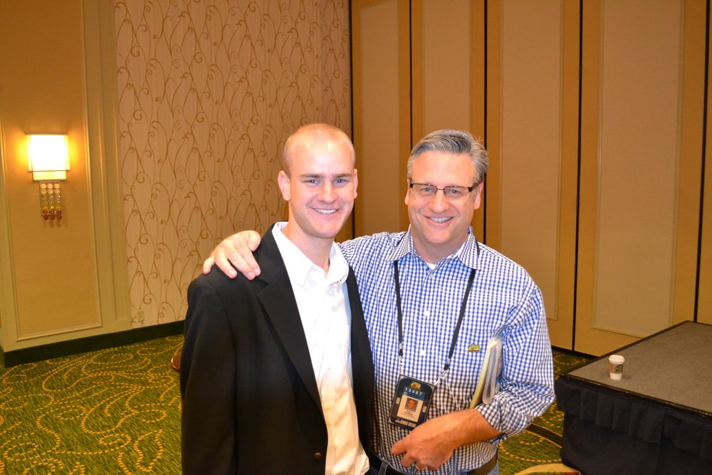 Meeting Pat Forde of Yahoo Sports during the Full Court Press seminar