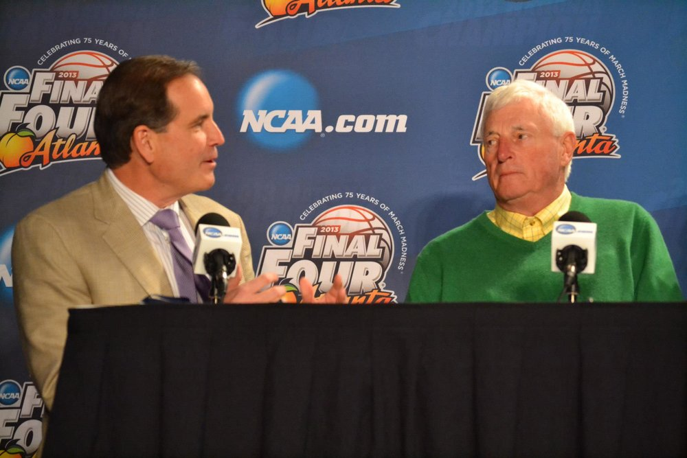 Jim Nantz and Bob Knight - 2013 Final Four