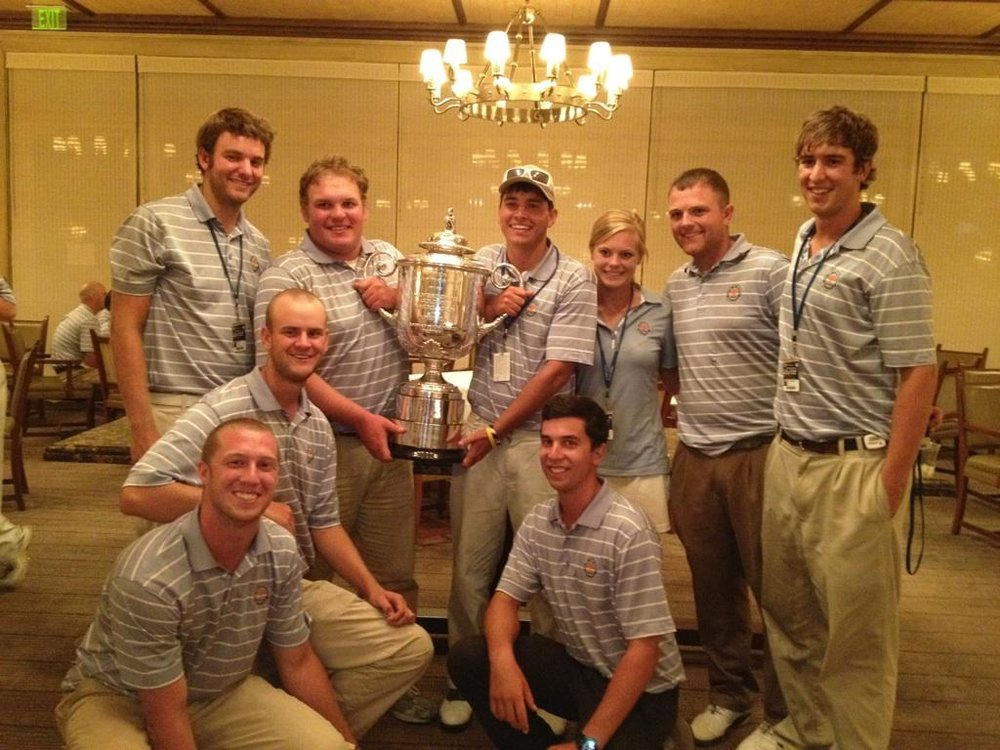 Swampers with Wanamaker Trophy