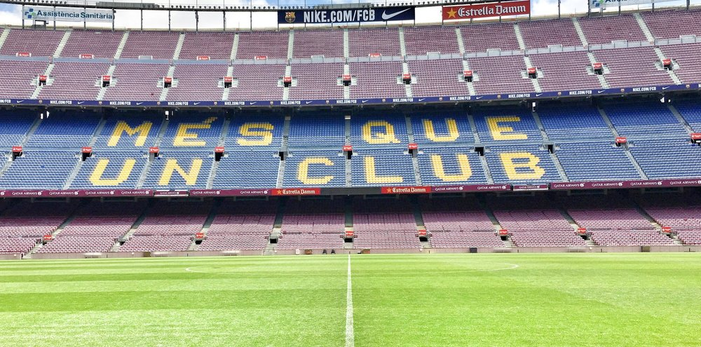 Check out   Camp Nou    Virtual Tour