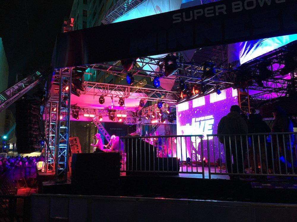 Super Bowl Live stage