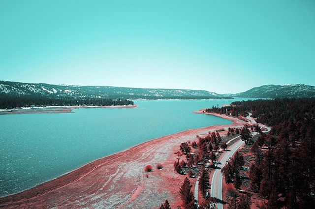THE TEAL PINK PROJECT: 043 * * * #ttpp #thetealpinkproject #tealpink #teal #pink #project #sonya6000 #gopro #djimavic #dji #mavic #photography #bigbear #lake #snow #pinetrees #adventure