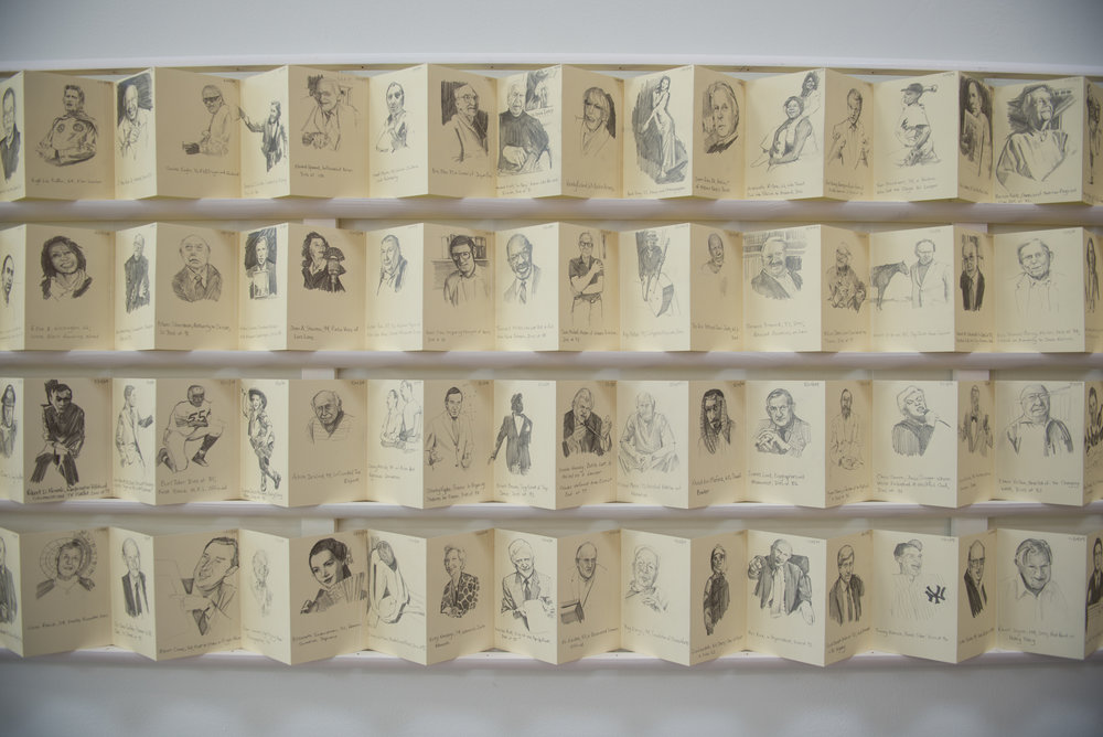 A Year of Obituary Drawings, 2009-2010