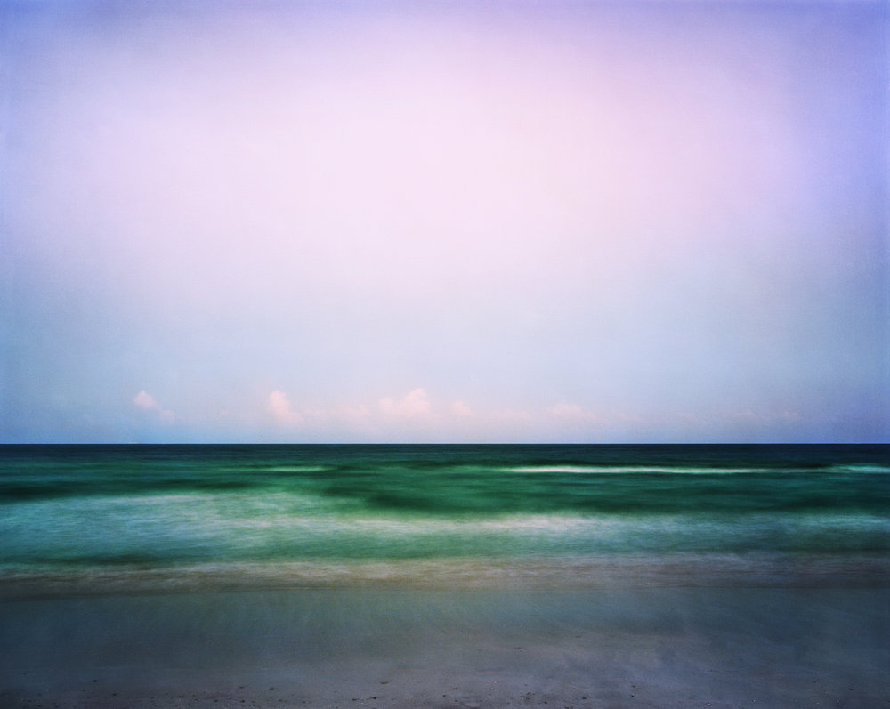 "Jonathan Smith  Dusk , Miami Beach, Florida, 2010 Chromogenic Print 59"" x 47"" 