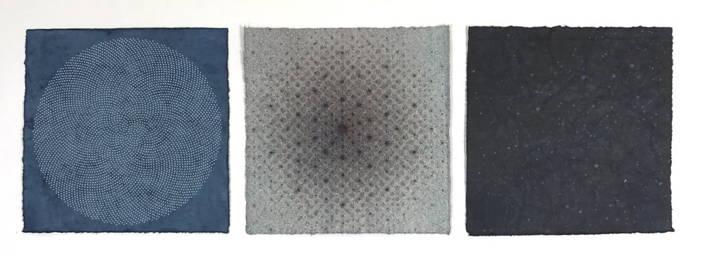 Amperage Variation Wax Triptych, 2017