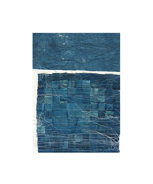 Indigo Collage, 2017