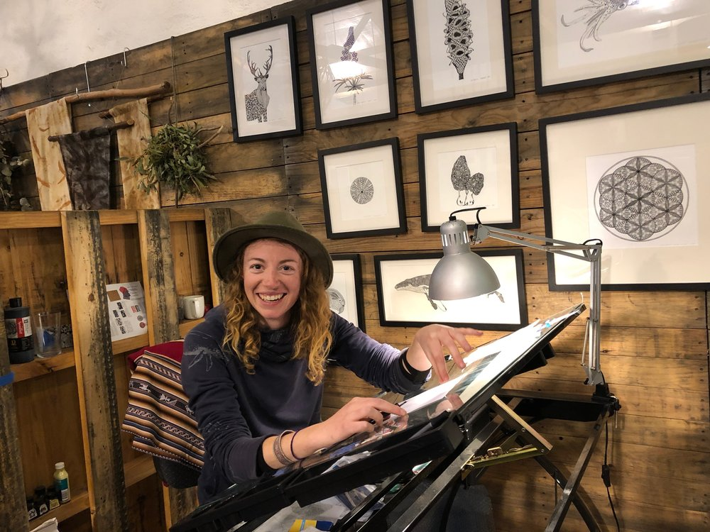 Jessica Patrick in studio at Fleurieu Arthouse.JPG