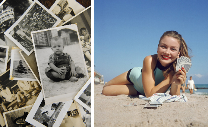 low-cost snapshots via the Brownie camera (left) advanced color photography for Time Life, 1946 (right)