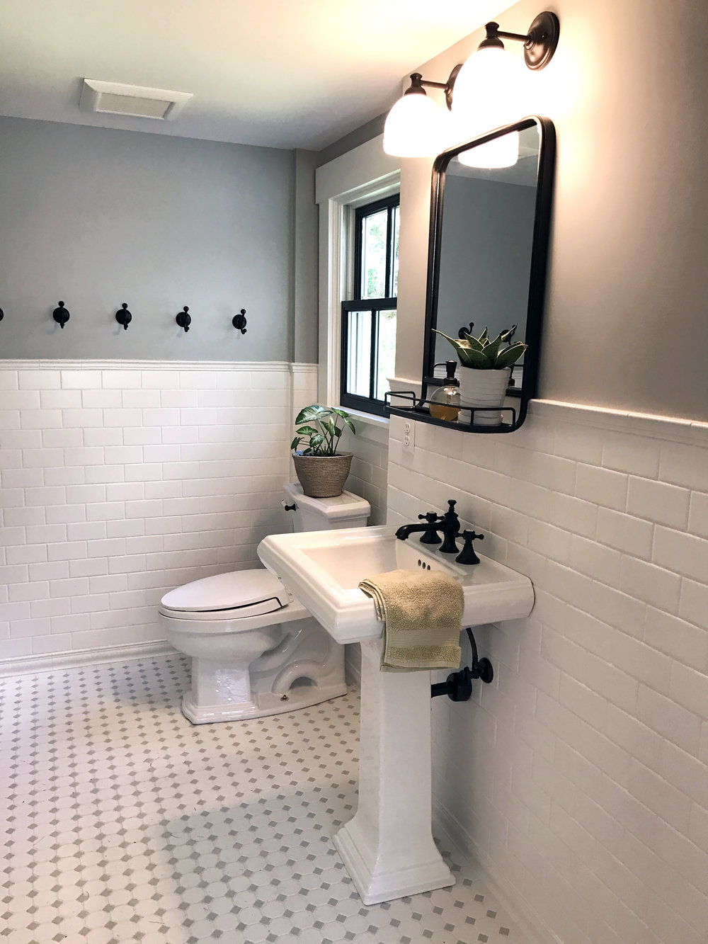 The New Bathroom - Part of Cunningham Farm's Bridal Suite Rental