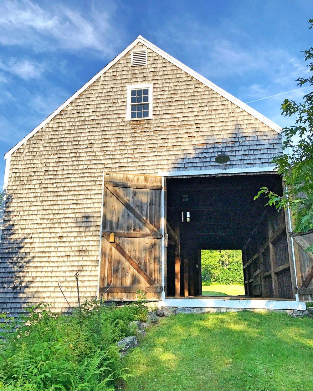 Hay Barn Swinging Doors Open