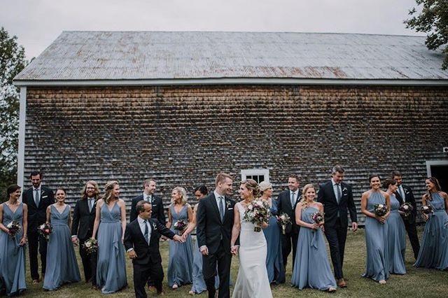 Dapper gents and lovely ladies. Great shot of #weddingpartygoals taken by @haleyocallaghan at the farm this past weekend! . . . . #cunninghamfarmmaine #weddingparty #bridetribe #bridalparty #groomsmen #weddingday #bestdayever #weddingvenue #weddingbarn #celebration #barnwedding #estatewedding #mainewedding #maineweddingvenue #wedmaine #mainebride #farmwedding #countrywedding #weddinginspo #weddinginspiration #wedspiration #weddingseason #weddingstyle #weddingstyling #outdoorwedding #weddingphotography #crew