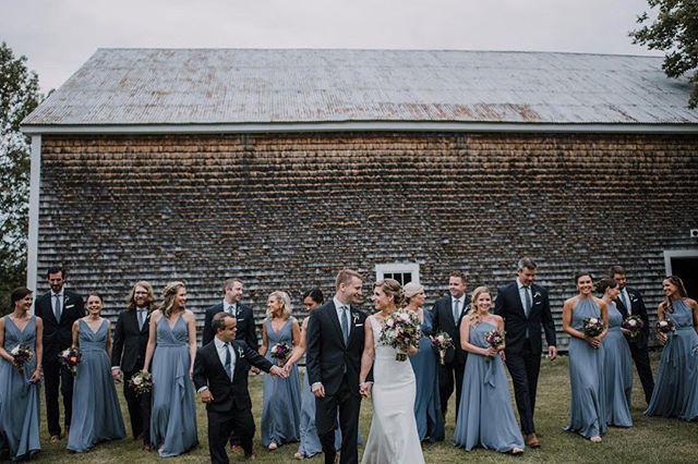 Dapper gents and lovely ladies. Great shot of #weddingpartygoals taken by @haleyocallaghan at the farm this past weekend! . . . . #cunninghamfarmmaine #weddingparty #bridetribe #bridalparty #groomsmen #weddingday #bestdayever #weddingvenue #weddingbarn #celebration #barnwedding #estatewedding #mainewedding #maineweddingvenue #wedmaine #mainebride #farmwedding #countrywedding #weddinginspo #weddinginspiration #wedspiration #weddingseason #weddingstyle #weddingstyling #outdoorwedding #weddingphotography #crew