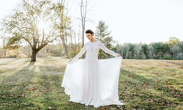 Love this photo of the beautiful @k_dianak from late October at the farm ❤️ . . . Photographer: Jessica // @fideliophoto Planning & Rentals: Paula Cano // @afamilyaffairmaine Gown: Andrea's Bridal // @andreasbridal  Hair: Colleen // @aphroditesalon Makeup: Brenda // @adorerouge . . #estatewedding #cunninghamfarmmaine #barnwedding #farmwedding #countrywedding #mainewedding #weddingphotography #weddinginspiration #weddinginspo #weddingdress #dressshopping #privateestate #mainebride #venuehunting #venuesearch #newenglandwedding #romanticwedding #fallwedding #estate #styleshoot #inspiration #weddingphoto #tyingtheknot #theknot #marthastewartweddings #bride #bridebeauty #weddingday