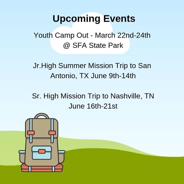 Have you signed up for any of the upcoming events yet? If not, there is no time to waste!