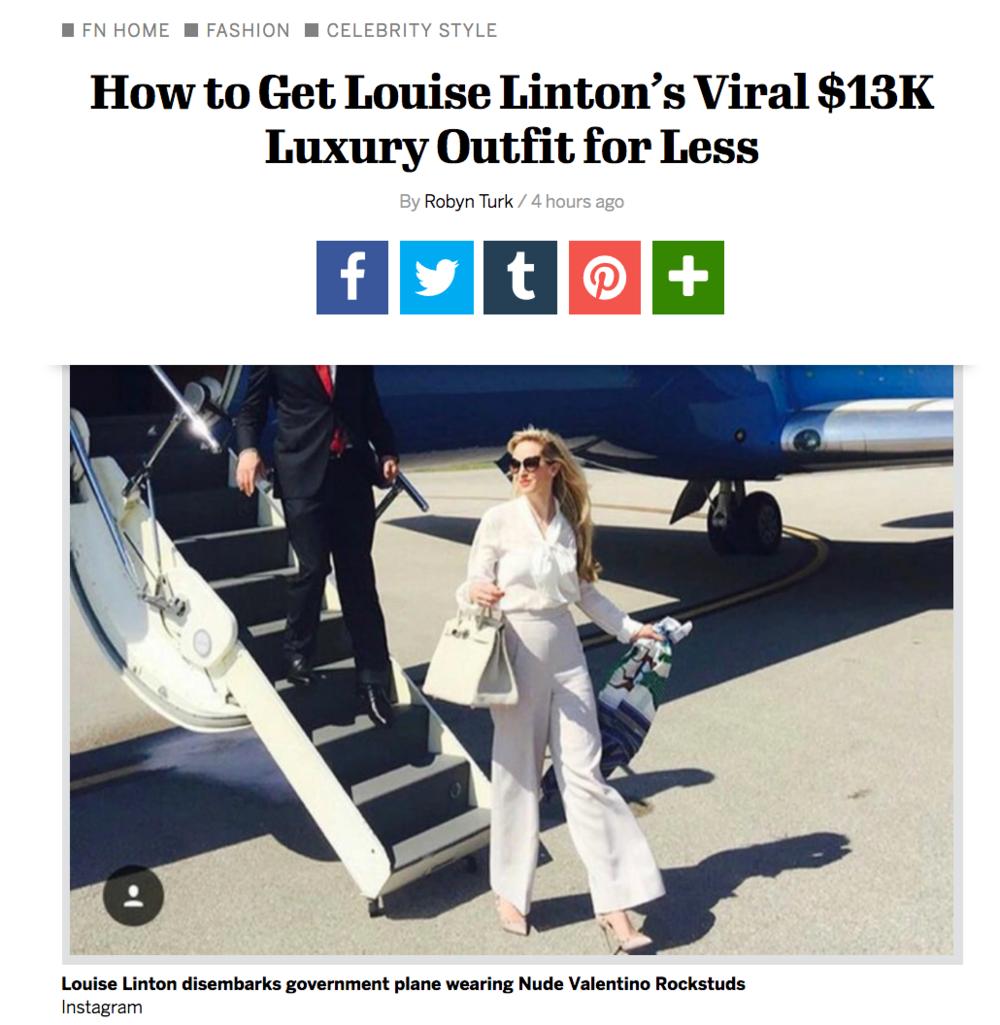 http://footwearnews.com/2017/fashion/celebrity-style/louise-linton-instagram-outfit-steve-mnuchin-wife-411354/