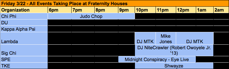 Friday House Party Events 3