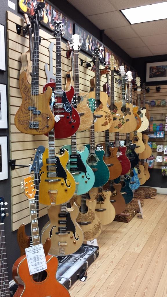 A Guitar Shop on 6th Street in Downtown Austin, TX