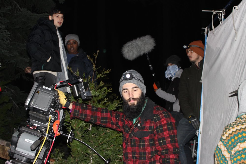 Brent on the set of Santaland