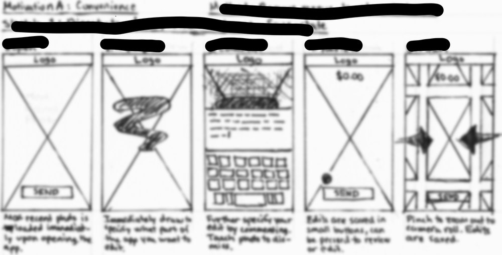 Images blurred and details redacted for confidentiality reasons.
