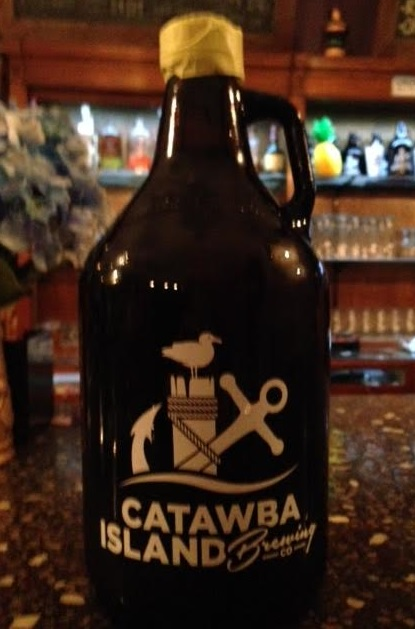"A to-go growler full of the ""Walleye-P-A"""
