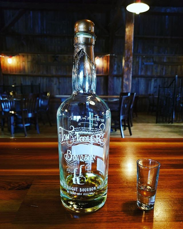Ohio booze bite of the week: Tom's Foolery Ohio Straight Bourbon Whiskey!  Sweet on the nose with notes of banana bread,  then the corn from the grain bill makes its debut on the palate.  Cheers!