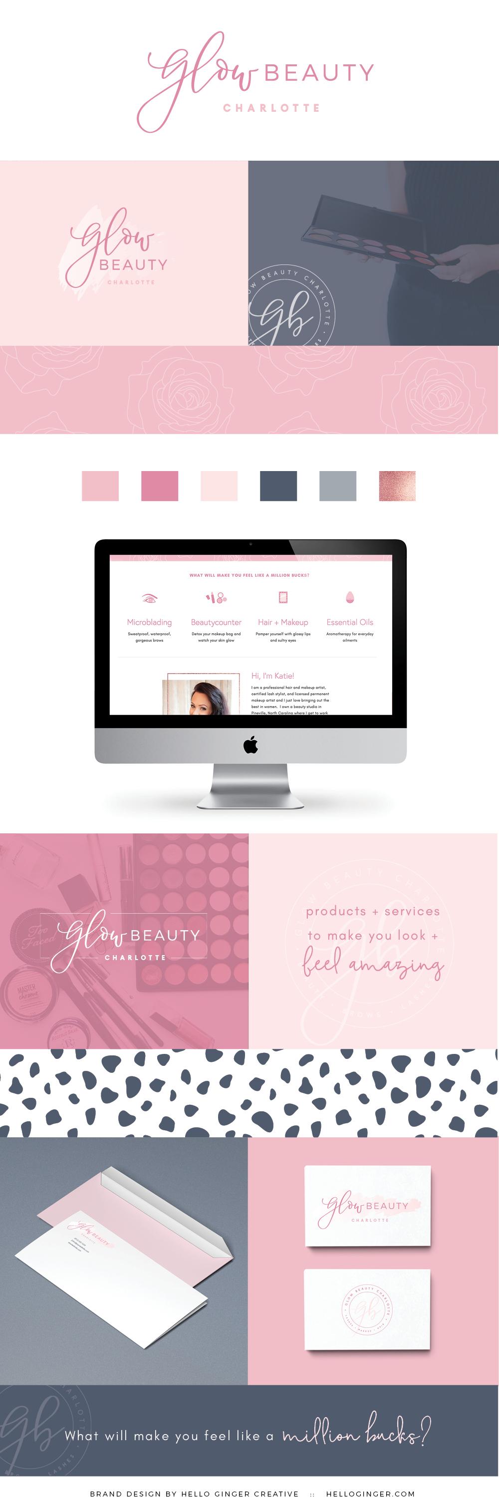 Glow Beauty Branding + Web Design