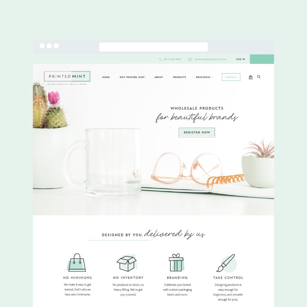 Printed Mint Web Design