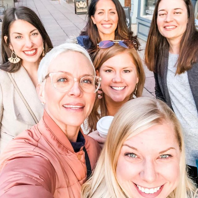 Missing these ladies today but so grateful for our group texts and FB group that lets us pretend like our offices are just down the hall from each other so we can stick our heads out the door and holler questions at each other. 👋🏻 Being a solopreneur can get lonely, and sometimes you just wish you had coworkers to vent to or go to for advice. If you're feeling a little lonely in your business journey, I encourage you to connect with likeminded business owners in your industry, because they are likely in need of a little company themselves! 💛 #communityovercompetition