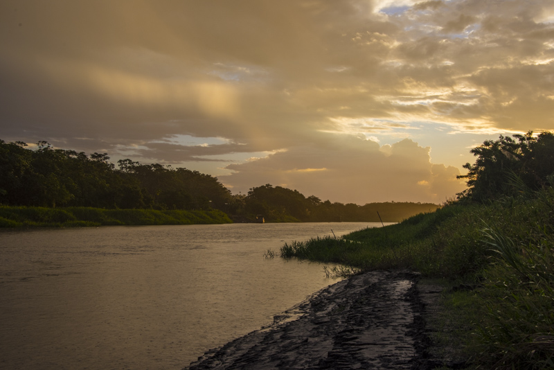 An Amazon sunset.