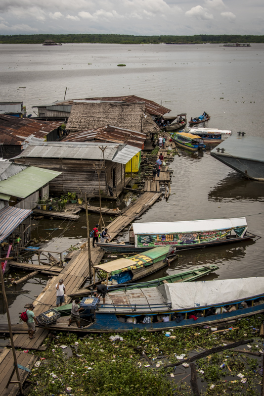 The main boat port in Iquitos.
