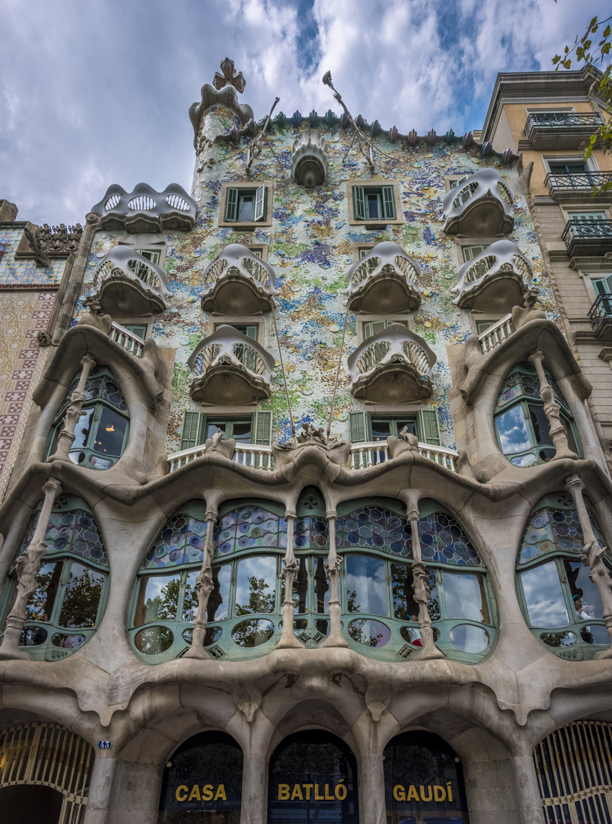 Casa Batlló, considered one of his masterpieces.