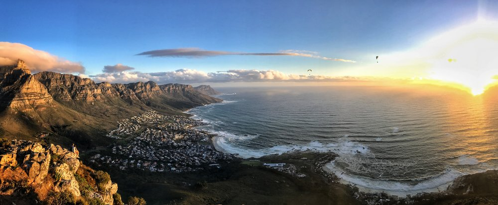 Sunset from atop Lion's Head.