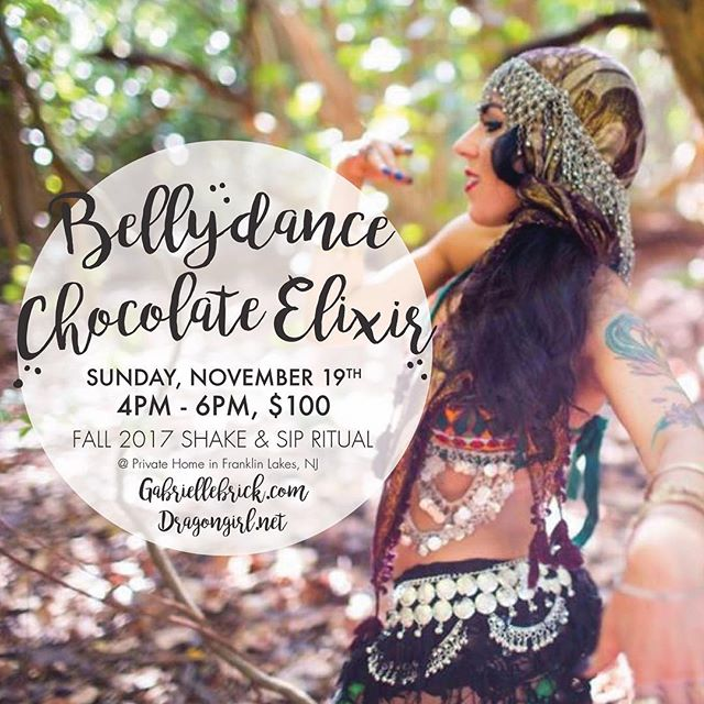 I am so freaking excited about this event!!! My gorgeous girl @enterdragoness and I are putting on an exclusive SHAKE & SIP RITUAL!! Sarah is going to help you release your inner dragon and awaken your sacral chakra while I bring out the Rebel out in us all, as we sip carefully crafted raw Chocolate potions intended to awaken body mind and soul!!! ... NOVEMBER 19th from 4-6PM at a private luxury home in NJ. All details will be emailed upon registration. SPACE IS LIMITED. ... LIVE EVENT LINK IN BIO  Reserve now and prepare to awaken all 5 senses during an extraordinary evening of Fun! ... #rebel #bellydance #dragons #aphrodesiac #rawchocolate #elixir #potions #events #nj #ny #luxurylifestyle #private #awaken #shakeandsipritual