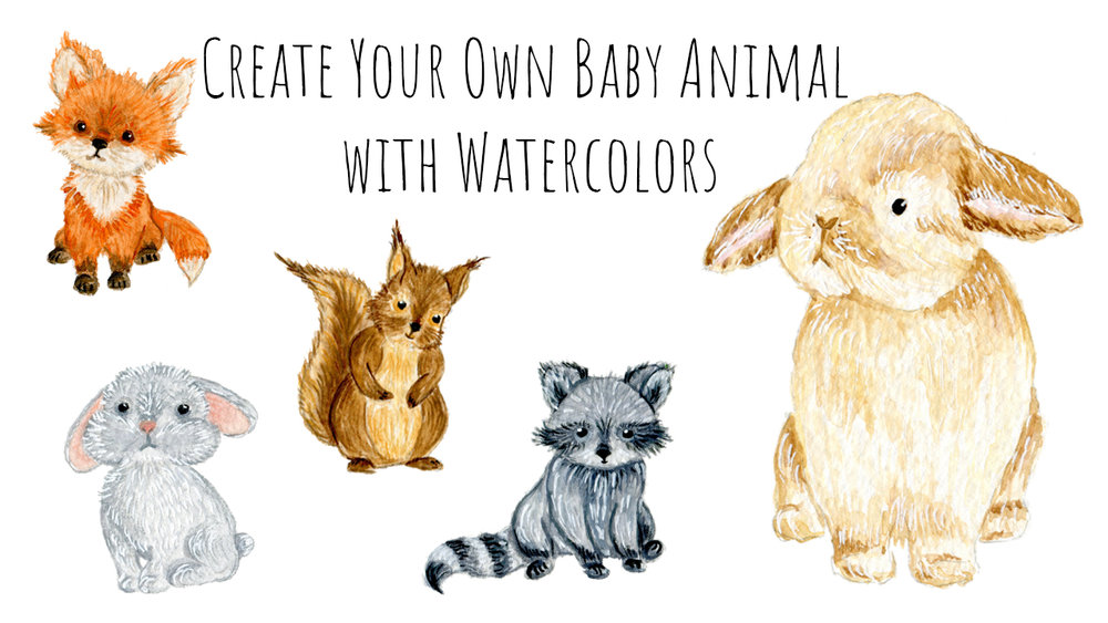 Create Your Own Baby Animal with Watercolors - In this class I will walk you through the process of creating your own baby animal using watercolors. We will go over the materials you would need for this class, where to find inspiration, how to make a rough sketch, how to clean it up and how to bring your baby animal to life with watercolors.I teach this class on Skillshare.
