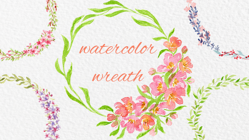 Watercolor Wreath - In this class I will walk you through the process of creating your own wreath with watercolors.  I will show you my process of how I come up with an idea for a wreath and I will demonstrate how to paint 5 different wreaths. I teach this class on Skillshare.