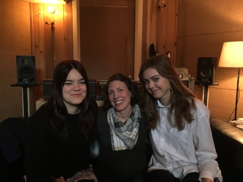 Klara and Johanna of First Aid Kit came over to sing on Alela's new album.